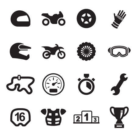 cups silhouette: Motorcycle Racing Icons