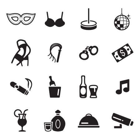 handcuffs woman: Strip Club Icons