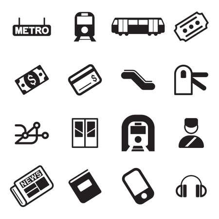 train ticket: Metro Or Subway Icons