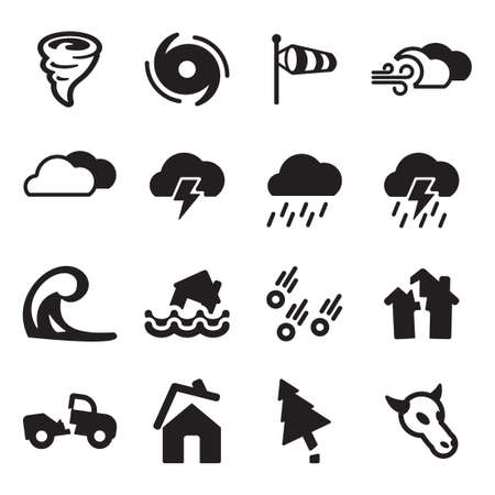 hurricane disaster: Tornado Icons