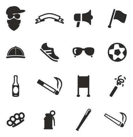 soccer shoe: Fan Icons Illustration