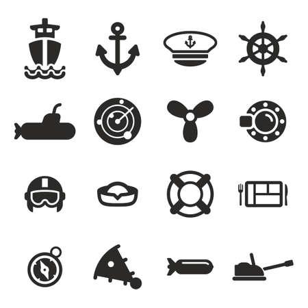 piloto: Iconos de la Marina Vectores