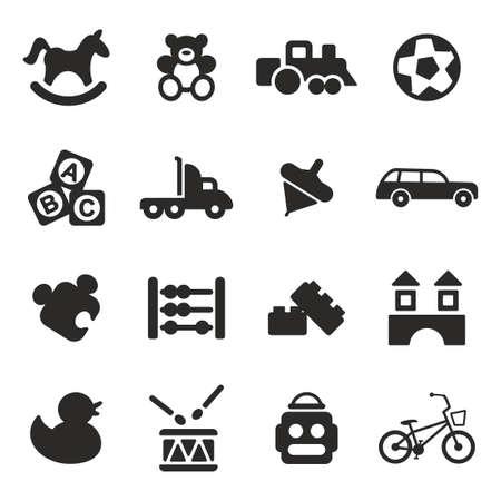 carritos de juguete: Juguetes Iconos Vectores