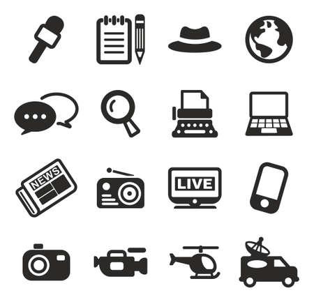 ジャーナリストや記者のアイコン  イラスト・ベクター素材