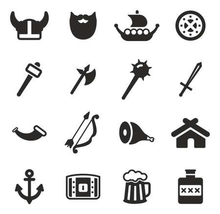 pillage: Viking Icons Illustration