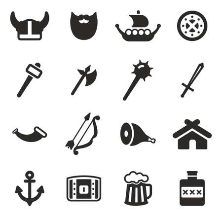 vikingo: Vikingos Iconos Vectores
