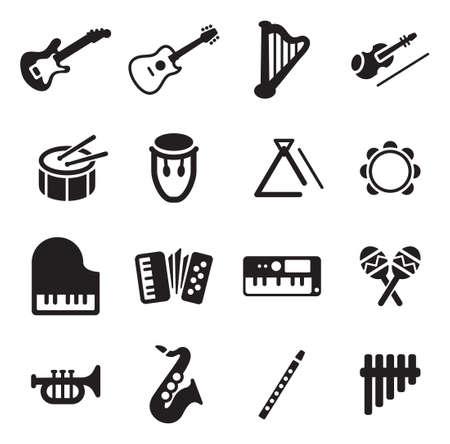the harp: Instrumentos musicales Iconos