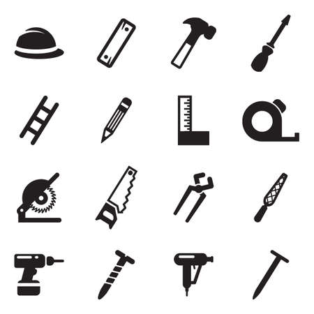 Carpenter Icons Vettoriali