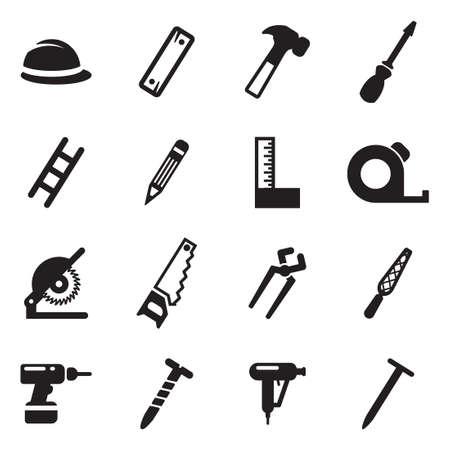 carpenter tools: Carpenter Icons Illustration