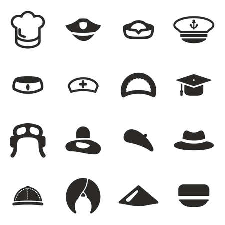 man with hat: Hat Icons Set 1