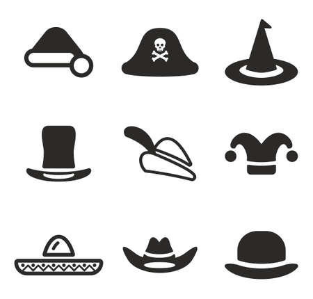 sexy woman black white silhouette: Hat Icons