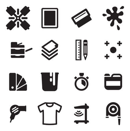 printing industry: Screen Printing Icons