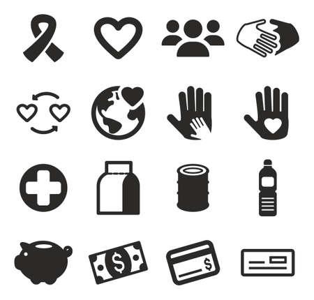 pobreza: Caridad Iconos