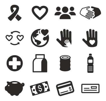 poverty relief: Charity Icons