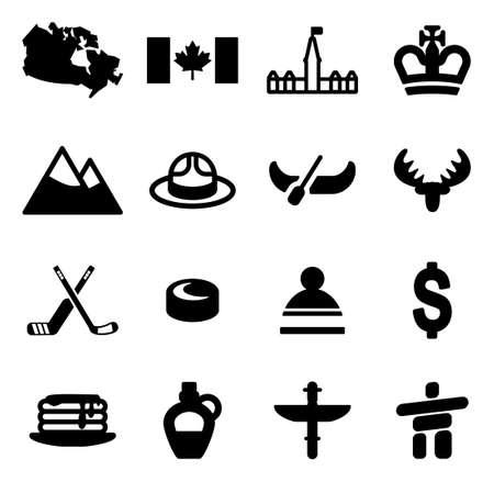 カナダのアイコン  イラスト・ベクター素材