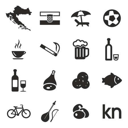 drink coffee: Croatia Icons