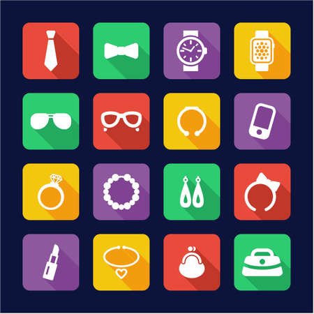 hair bow: Accessories Icons Flat Design