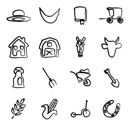 amish buggy: Amish Icons Freehand