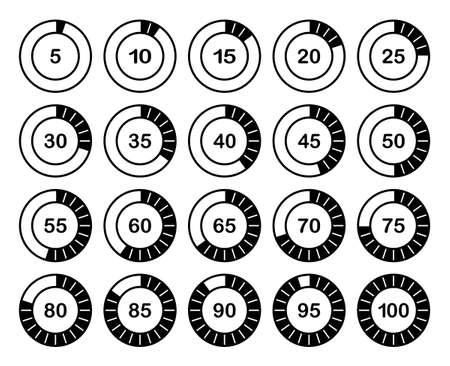 Loading Or Percentage Icons Set 2