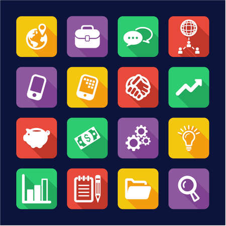 thrive: Manager Icons Flat Design