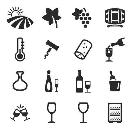 corcho: Iconos del vino Vectores