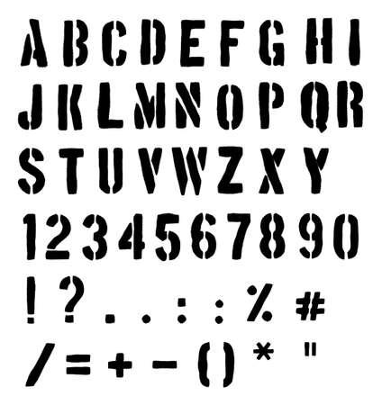 w c: Cargo Or Traffic Stencil Alphabet