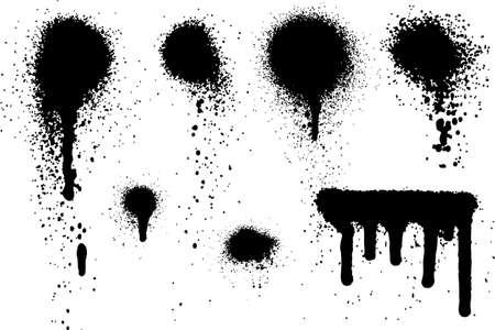 스프레이 페인트 요소 세트 06