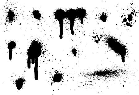 Spray Paint Elements Set 08 Ilustração