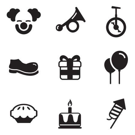 dork: Clown Icons Illustration