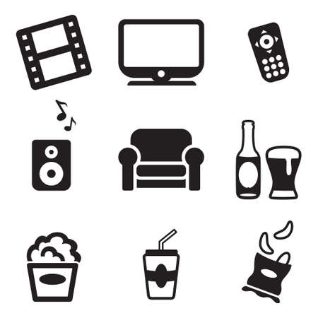 couch potato: Movie Night Icons