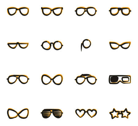diopter: Eyeglasses Icons Freehand 2 Color
