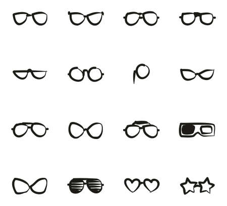 diopter: Eyeglasses Icons Freehand