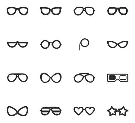 diopter: Eyeglasses Icons