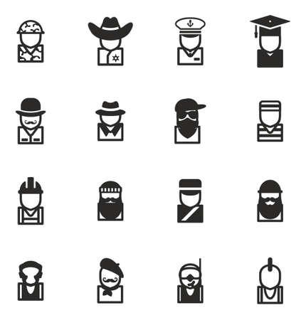 Avatar Icons Set 2 Vector Illustratie