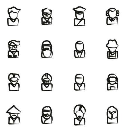 sheik: Avatar Icons Set 3 Freehand