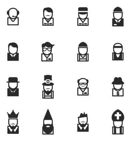 Avatar Icons Set 4 Vektorové ilustrace