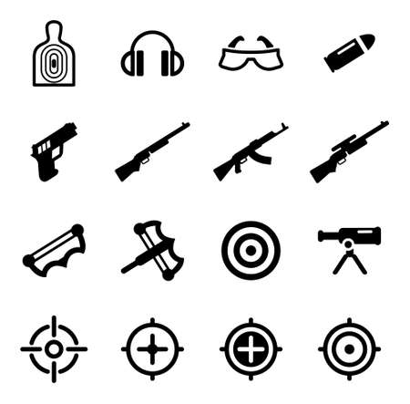 Shooting Range Icons