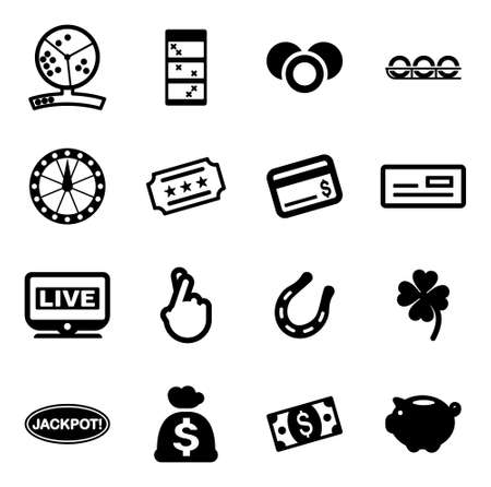 lottery: Lottery Icons Illustration
