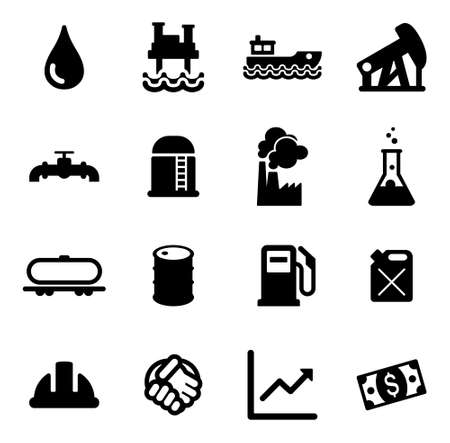 industry icons: Oil Industry Icons Illustration
