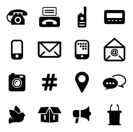 pager: Different Ways Of Communication Icons