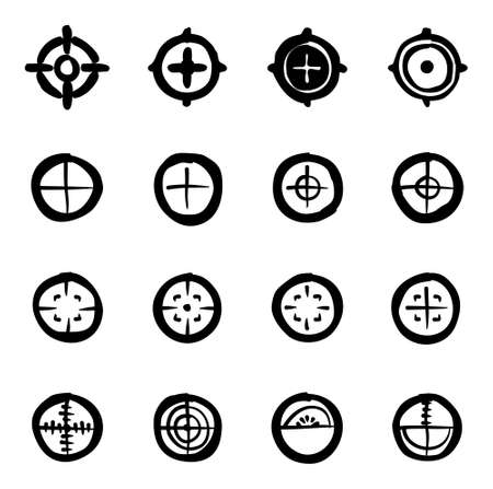 Crosshair Icons Freehand Fill