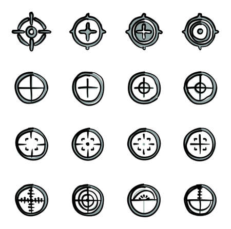 gunpoint: Crosshair Icons Freehand 2 Color