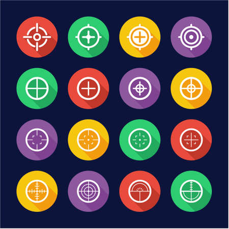 Crosshair Icons Flat Design Circle