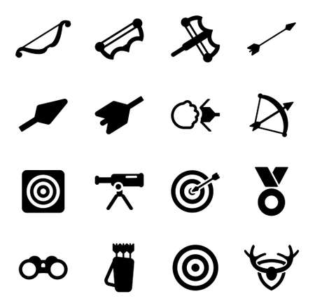holster: Archery Icons Illustration