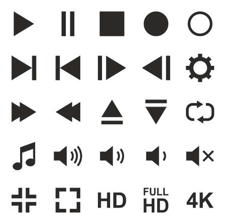 off the record: Video Or Music Or Camera Button Icons