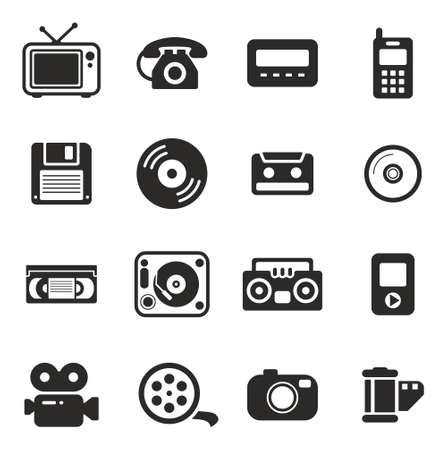 old technology: Old Technology Icons