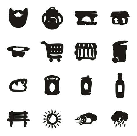 Homeless Icons Freehand Fill