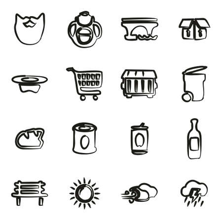 Homeless Icons Freehand