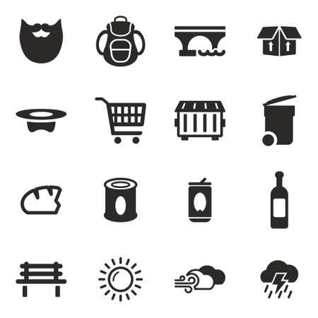 Homeless Icons Ilustração