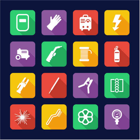 Welding Icons Flat Design Stock Vector - 53425526